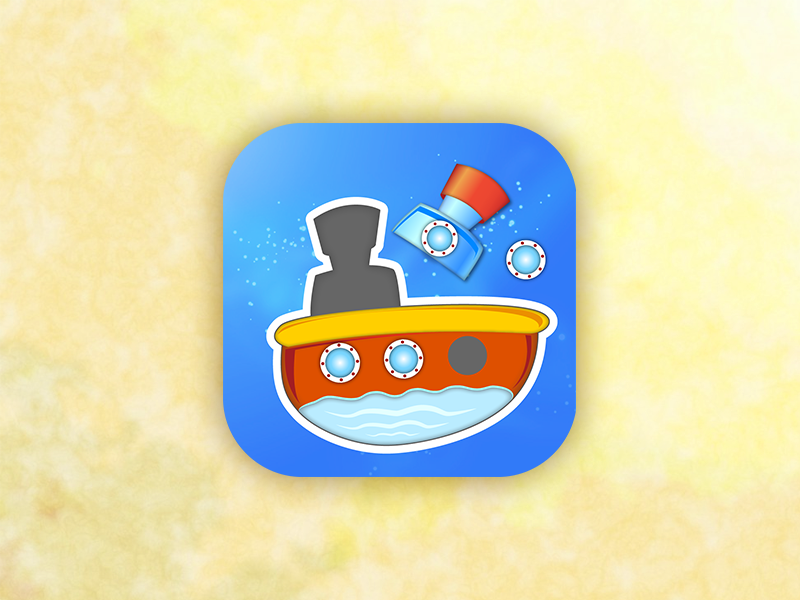 Game Icon puzzle ship application vector tablet mobile illustration icon game design