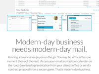 Webmail Product Landing Page