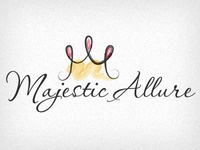Majesticallurelogo logo brand crown script watercolor