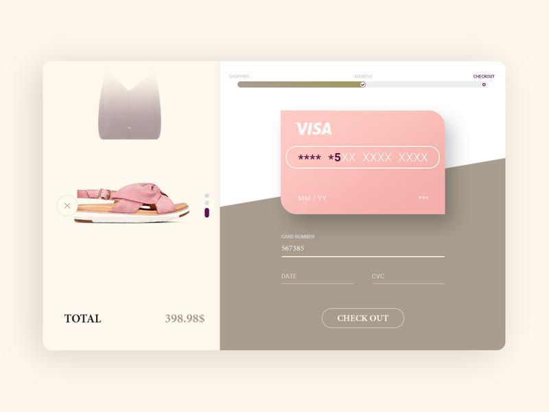 Daily UI #002_Credit Card Checkout credit card checkout checkout shopping web ux ui dailyui