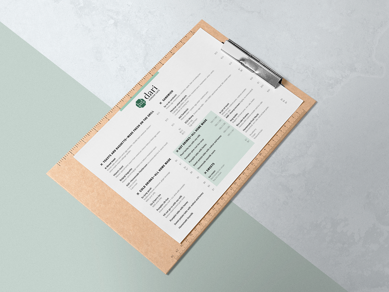 Dari Menu Mockup content management graphic design brand and identity