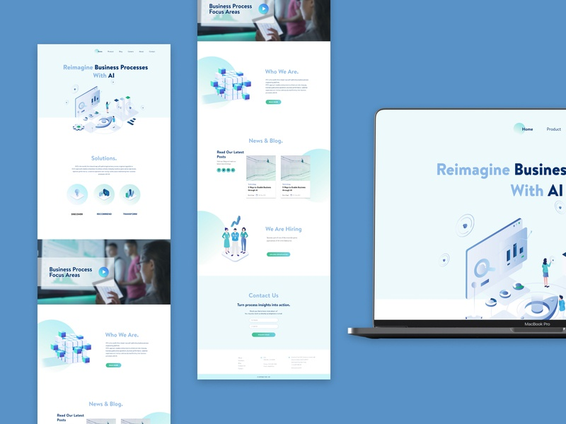 Home Page Design for a Technology Company