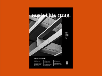 Aesthetic Mag minimal modern architecture aesthetic graphic design blackandwhite book magazine design architecture type logo magazine cover typography techno magazine editorial layout editorial design editorial design black and white