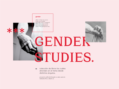 Gender Studies Editorial feminism woman pink type graphicdesign graphics gender book magazine design animation logo magazine editorial layout editorial design design magazine cover typography techno editorial black and white