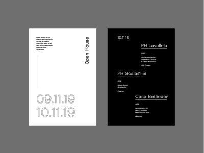 Open House Flyers minimal modern flyer layout font graphic design type architecture logo magazine cover black and white typography techno magazine editorial layout editorial design editorial design