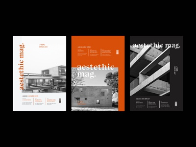 Aestethic Mag: Covers photography cover design cover book cover aestethic modern architecture architect techno book type logo magazine cover black and white typography magazine editorial layout editorial design editorial design