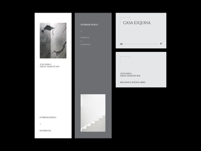 Identity: Casa Esquina business card logo graphic design black and white magazine editorial layout typography architect architecture concept branding identity branding identity design identity editorial editorial design design
