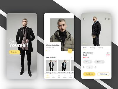 Order clothes on mobile shopping app shop app clothes uiux grapgic design ux ui  ux ui interface design interaction coloful clean resume