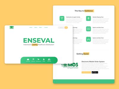 Enseval Company Web Redesign