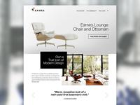 Eames Website Dribbble