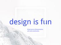Design Is Fun
