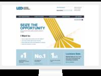 Louisiana Economic Development Homepage redesign