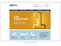 LED Homepage screen