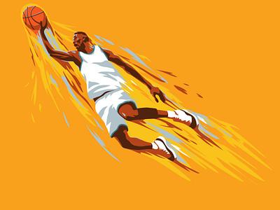 Slam dunk graphic design game basketball player design splashes vector illustration vector illustraion basketball sports design sports illustration