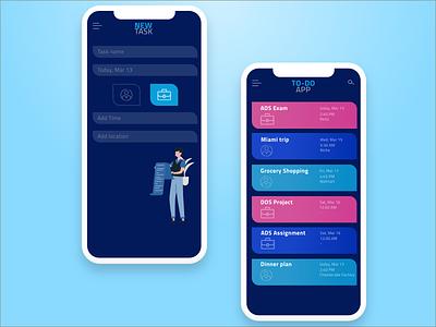 TO-DO Mobile App uidesign ui ux typogaphy sketchapp minimal interface flat design app design app