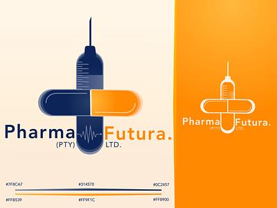 PHARMA-FUTURA Logo Design illustration digital art medical logo company branding company logo branding design brand design logo branding vector minimal design flat