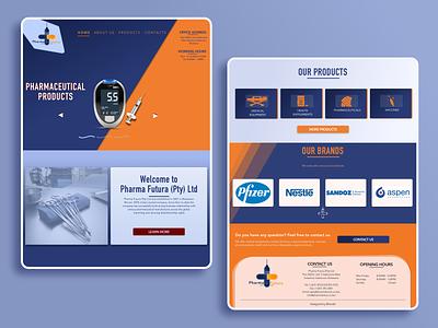PHARMA-FUTURA Website Design art typogaphy ux ui website design web design website brand design sketchapp vector illustration minimal flat design
