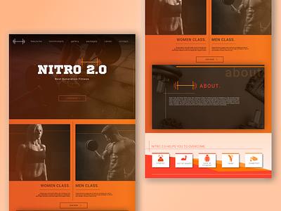 NITRO GYM-Website Design website design ux website builder webdesign web branding ui sketchapp vector illustration minimal flat design
