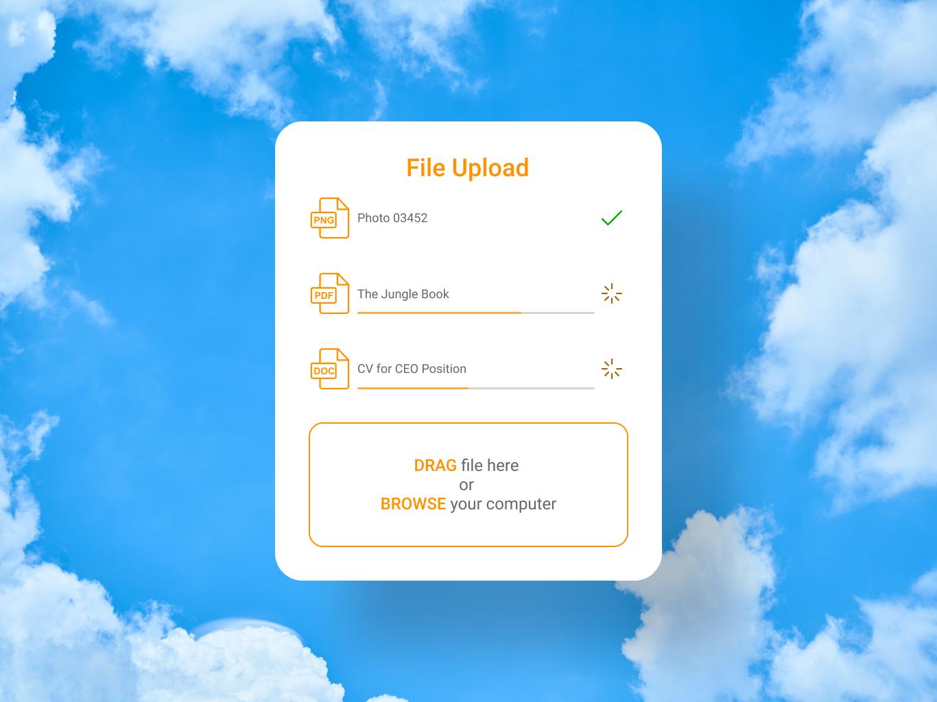 031 file upload uxui uidesign ux design ui dailyui