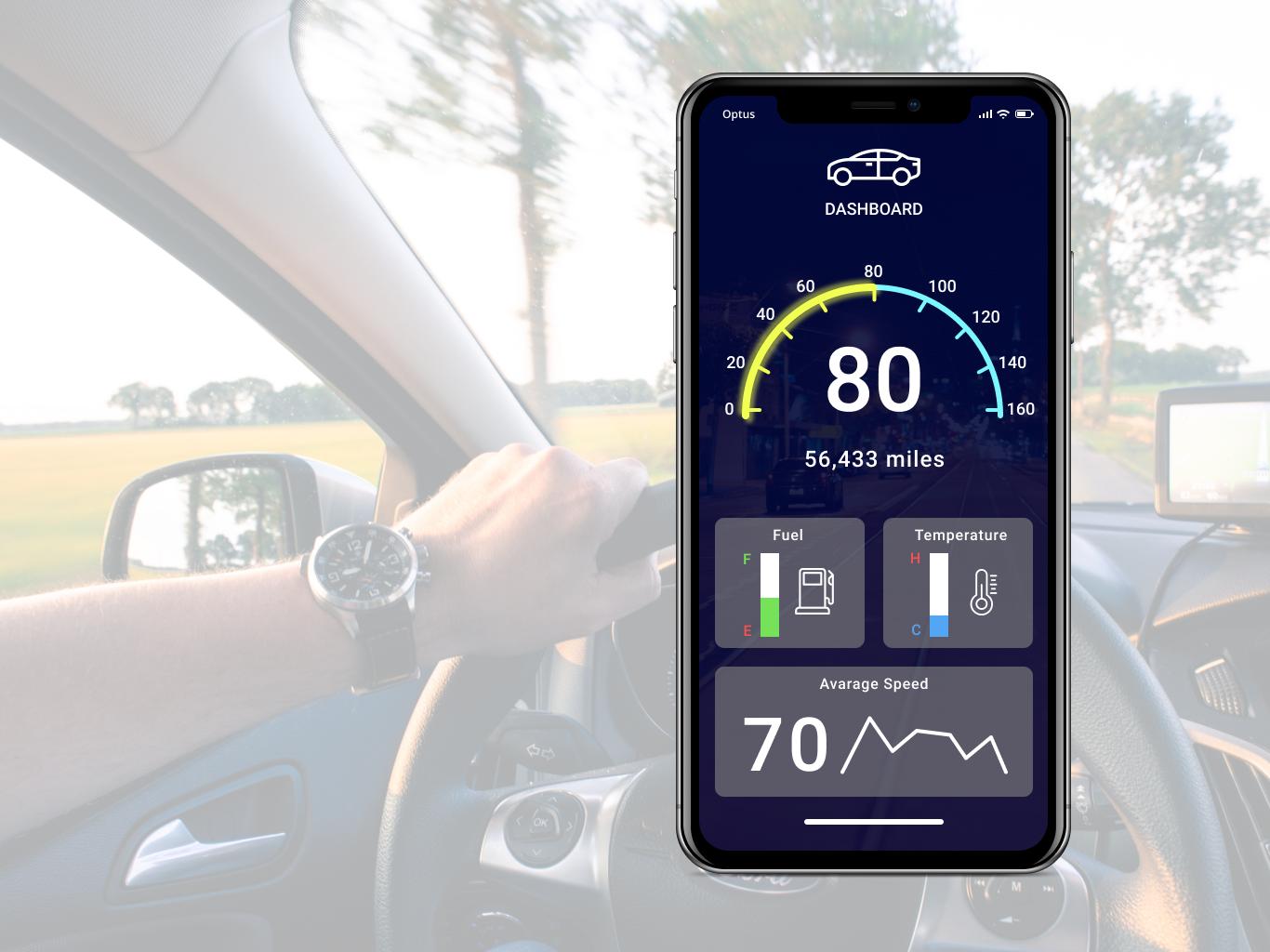 034 car dashboard app uxui uidesign ux design ui dailyui