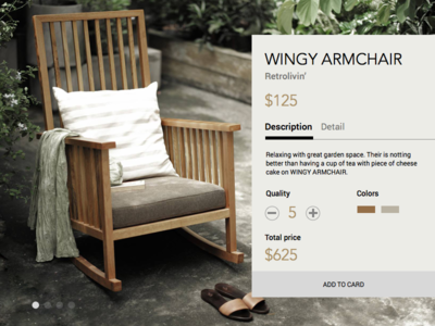 Freebie - Windy Armchair product stock chair e-commerce card