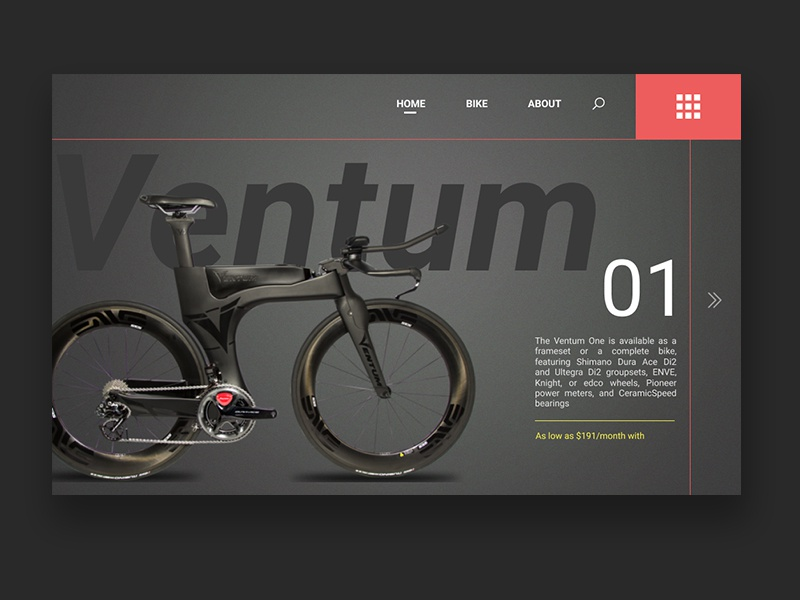 Ventum One triathlon e-commerce bike