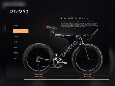 Dimond Site design website e-commerce bikes