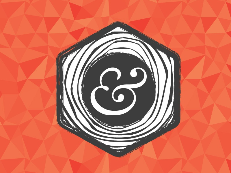 Shot logo mark hexagon low-poly