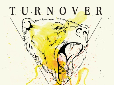 Turnover. bear watercolor shapes merch shirt turnover pop punk animal