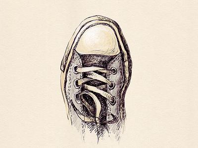 Converse illustration sketch