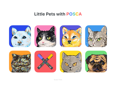 Little Pets with POSCA sketch illustration