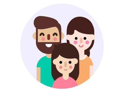 Family vector illustration graphic graphic artist vector drawing design inspiration illustration illustrator graphic  design