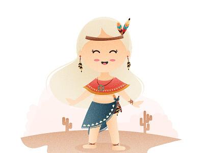 Tribe Girl character vector illustration graphic vector graphic artist illustrator design illustration graphic  design inspiration