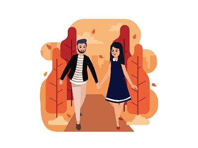 Autumn In My Heart graphic artist design illustrator illustration graphic graphic  design inspiration