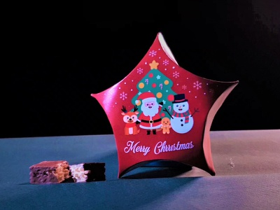 Christmas Chocolate Packaging graphic  design illustrator design creative designer packaging design packaging branding inspiration