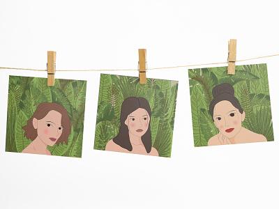 Tropical Girls graphic artist design illustrator graphic illustration graphic  design inspiration