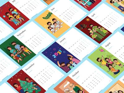 2021 Calender graphic  design illustrator design illustration inspiration graphic artist branding