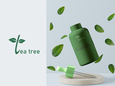 Tea tree- LOGO design graphic artist illustrator illustration graphic  design inspiration branding logo