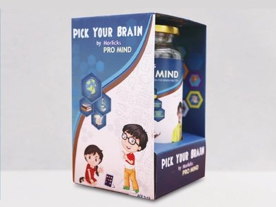 Promotional packaging for Horlicks Promind packaging branding graphic artist graphic illustration graphic  design inspiration