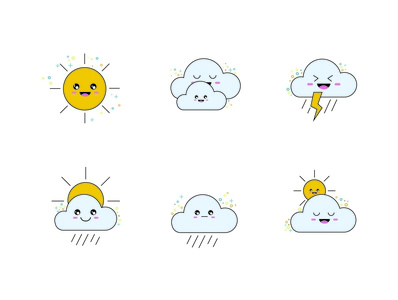 Weather Icon Design illustration doodle vector illustration graphic artist drawing vector illustrator graphic graphic  design inspiration