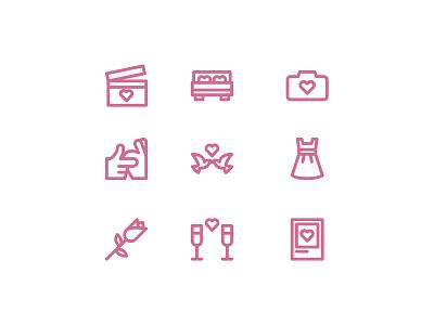 Valentine Day Icon Set illustration uiux design ui app icon design icon set iconset icons icon