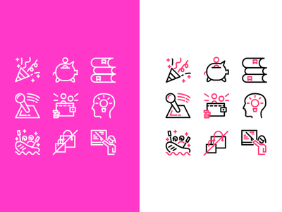 Experiences Icons Set icon design icon set iconset icons design ux branding ui app icon