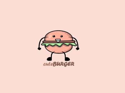 Cuteburger illustration vector food flat cute burger