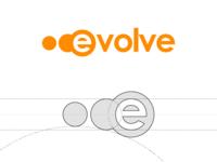 Evolve Logo web concept ux ui app clever type lettering vector typography minimal illustrator identity icon flat design clean logo illustration branding