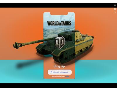 PzKpfw V «Panther» (W.O.T) tank wot worldoftanks cinema cinema4d 3d art figma illustration logo иллюстрация design дизайн vector