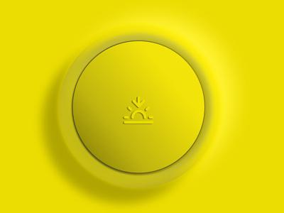 yellow button yellow knob button web app icon ui ux 3d art illustration figma vector design