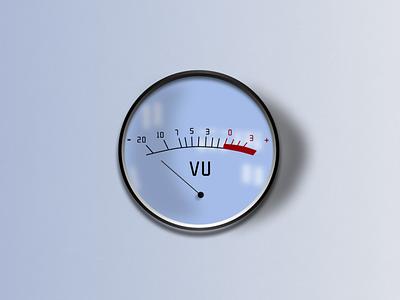 VU meter glass button knod vu meter ux figma vector design