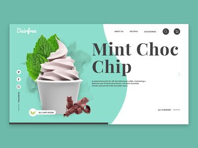 Vegan Frozen Yoghurt Web Design