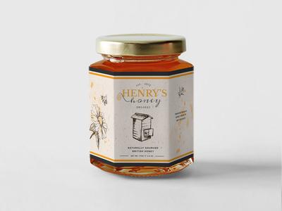 Henry's Honey jar & Branding concept