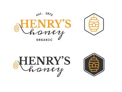 Henry's Honey Logo Design
